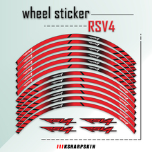 Free Shipping  Suitable For APRILIA RSV4 RSV 4 Motorcycle Refitting Waterproof Reflective Wheel Hub Sticker Personality Decal