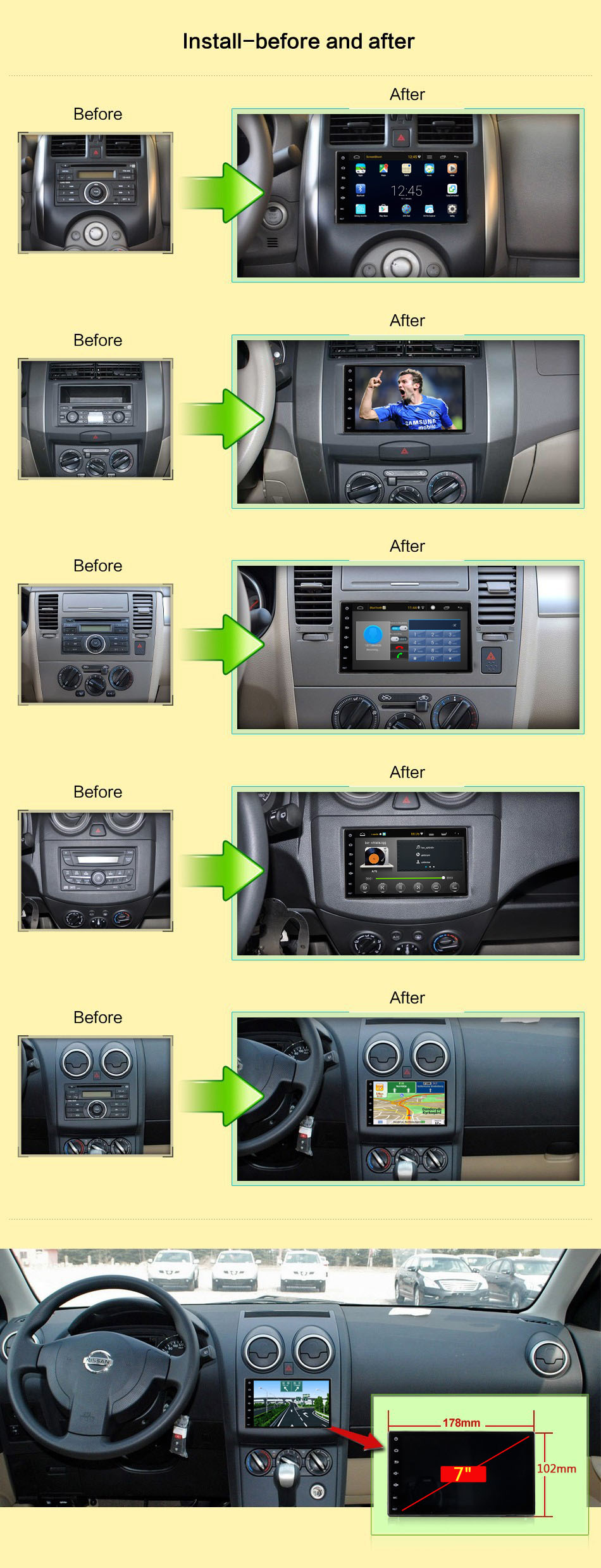 2 DIN CAR ANDROID 444444