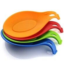 Łyżka silikonowa reszta naczynie do gotowania reszta kuchnia rzeczy kadzi łyżka mata uchwyt gadżety domowe do kuchni dla wygody maty