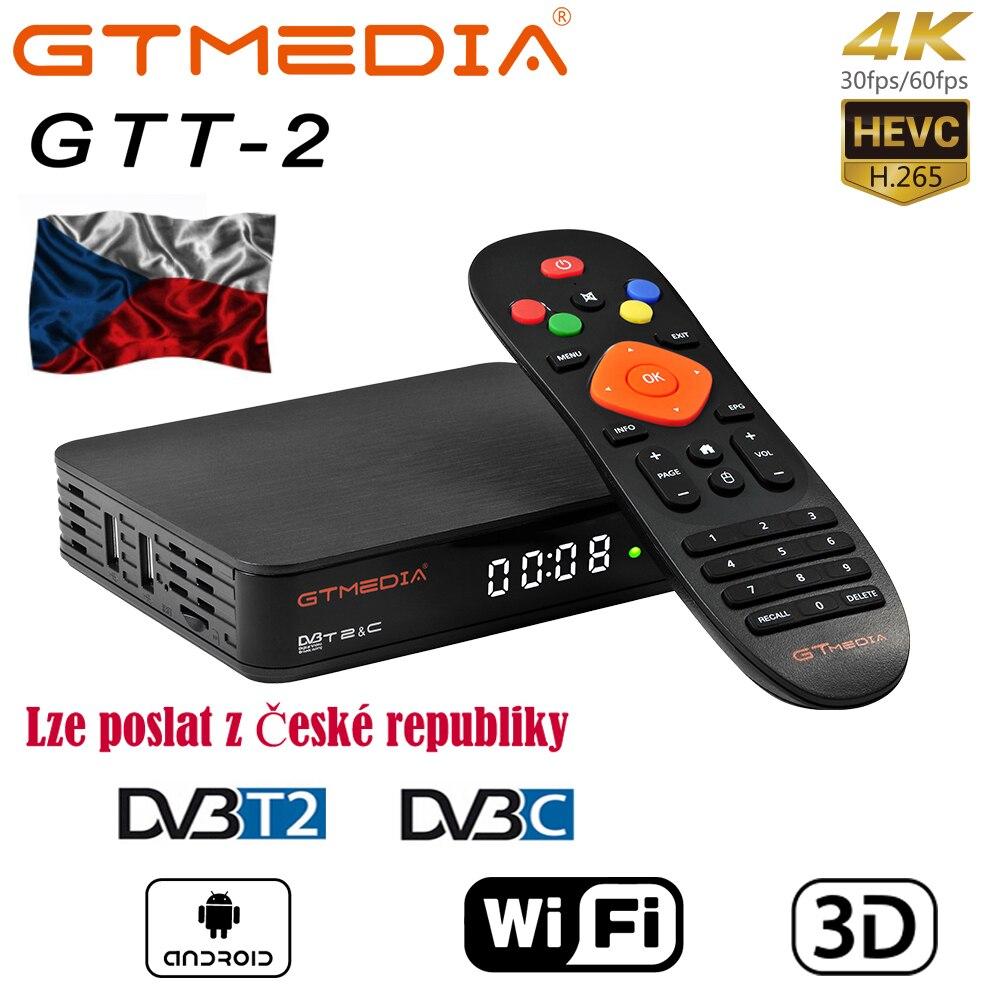 GTMEDIA GTT2 DVB-T2/C Android TV BOX 2g+8g 1080p Android Dvb-t2 Signal Spain Freesat Gtt H.265 Built-in Wifi 2.4G Cccam Iptv M3u