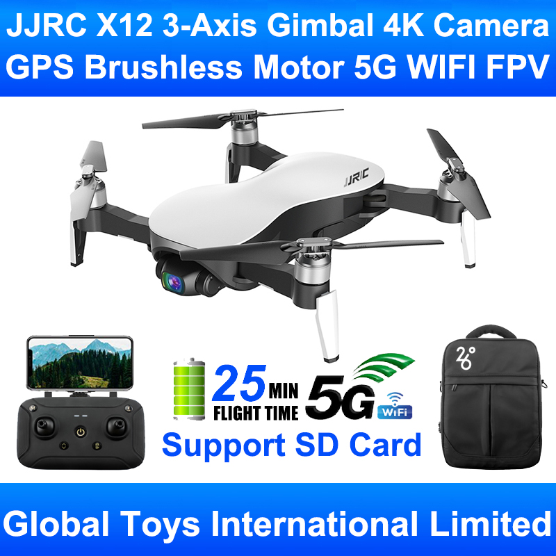 JJRC X12 AURORA 5G WIFI FPV GPS Faltbare Bürstenlosen Motor RC Drone Quadcopter Mit 4K Ultra HD 3-achsen Gimbal Kamera RTF Kind Spielzeug