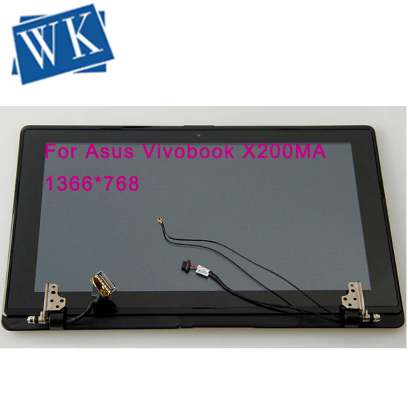 New original Touch Screen LCD Display Panel Screen with frame digiziter Assembly Upper half set For Asus Vivobook X200MA <font><b>X200CA</b></font> image