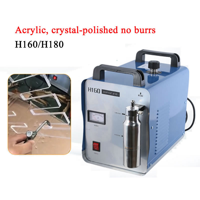 95L 75L H180 H160 Acrylic Flame Polisher Machine Oxygen Hydrogen Generator Water Welder for Jewellers and Silversmiths 220V