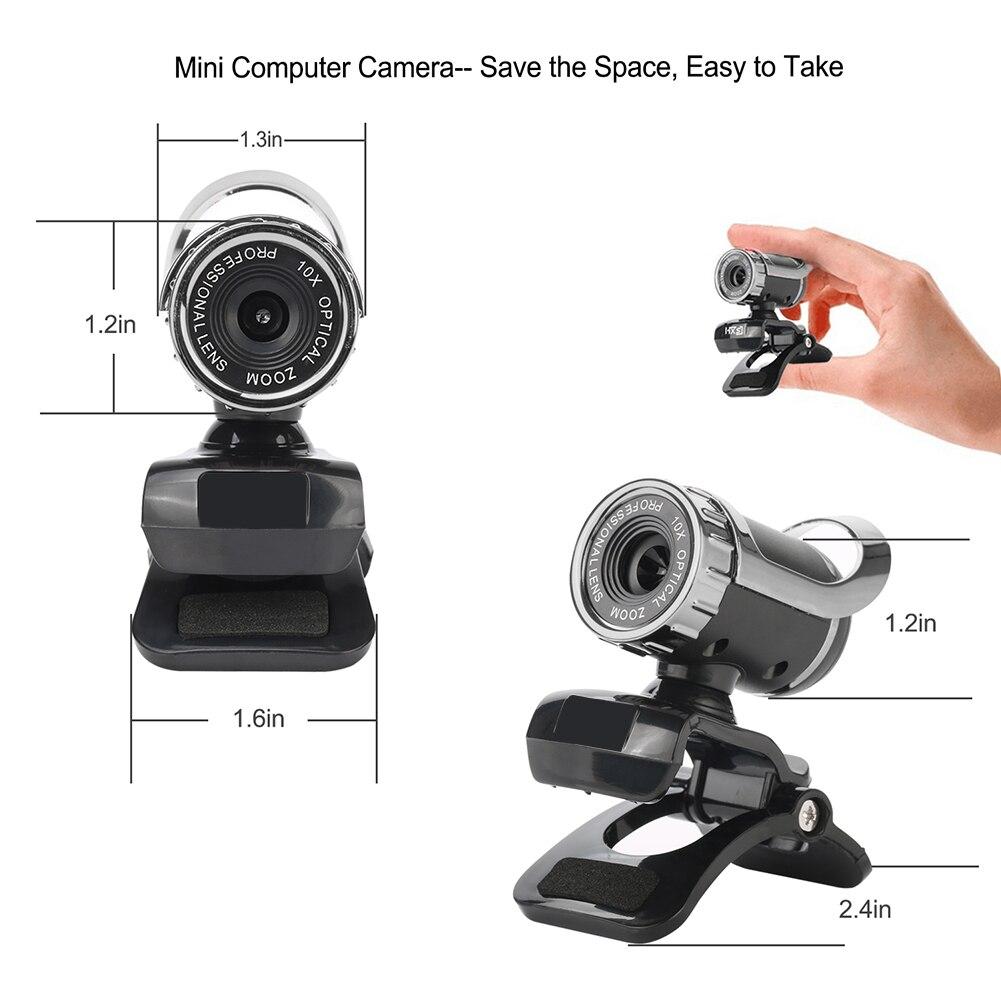 Usb веб камера hd Веб микрофон клип on для компьютера ноутбука