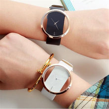 Top Leather Quartz Watch Lady Watches Women Luxury Antique Stylish Round Dress Watch Relogio Feminino Montre Femme(China)