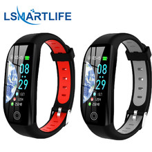 F21 inteligente pulseira gps distância fitness atividade rastreador ip68 à prova dip68 água relógio de pressão arterial monitor sono banda