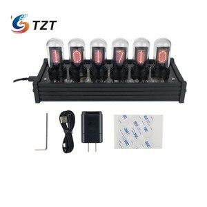 Image 1 - TZT EleksTube IPS RGB Nixie أنبوب ساعة توهج أنبوب ساعة مخصصة الطلب أنماط الإبداعية ديكور الهدايا