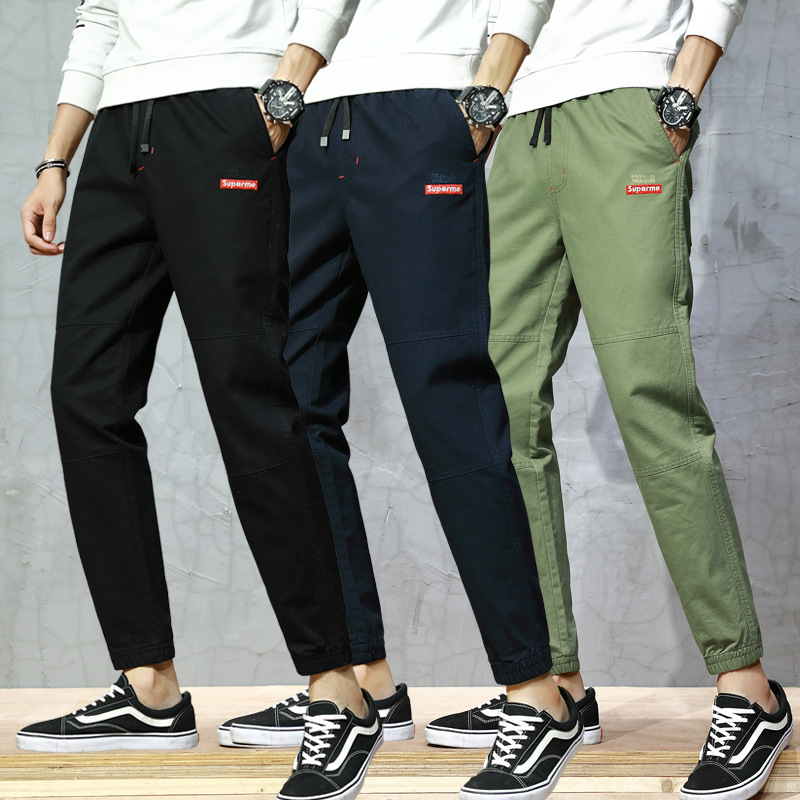 Men's Fashion Casual Trousers 2019 Spring New Products Men'S Wear Slim Fit Trousers Trend Versatile Teenager Men's Trousers