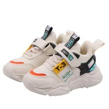 Spring Autumn Children Shoes Boys Girls Sports Shoes Fashion Brand Casual Breathable Outdoor Kids Sneakers Boys Running Shoes cheap All Seasons Cotton Fabric Unisex Fits true to size take your normal size Hook Loop casual shoes Solid 14T free shipping