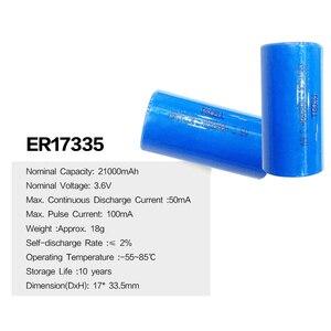 Image 5 - 5pcs ER17335 ER17335S ER 17335 ER2/3A 3.6V Li SOCl2 batteria al litio 2/3A batterie 17*33.5 MILLIMETRI Superiore a CR17335 Batterie
