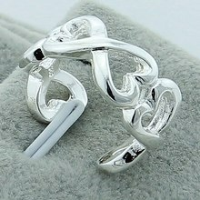 Wholesale Heart To Ring Real 925 Silver Color Women Rings Complete Specifications Lovely Jewelry For Wedding Party