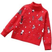 2020 חורף ילדים בגדי בנות סוודרים מקרית מודפס לעבות צמר סרוג תינוקת סוודרי סוודר לילדה ילדים