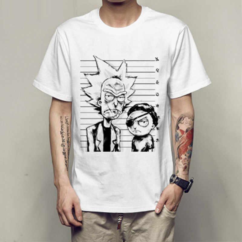 T-shirt pour hommes col rond lâche rick et morty imprimé T-shirt 2019 nouveau décontracté hommes T-shirt hauts livraison gratuite