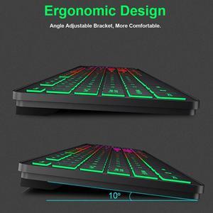 Image 5 - IMICE, AK 200, USB, luz de fondo con cable, teclado de membrana de 104 teclas para ordenador, PC, escritorio, Juegos de ordenador portátil, teclados