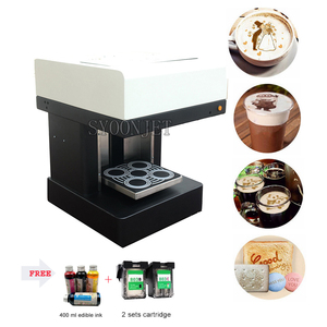 Automaric 4 cups Coffee Printer with free edible ink with Wifi for Cappuccino Cake Bread Macaron Selfie printing machine