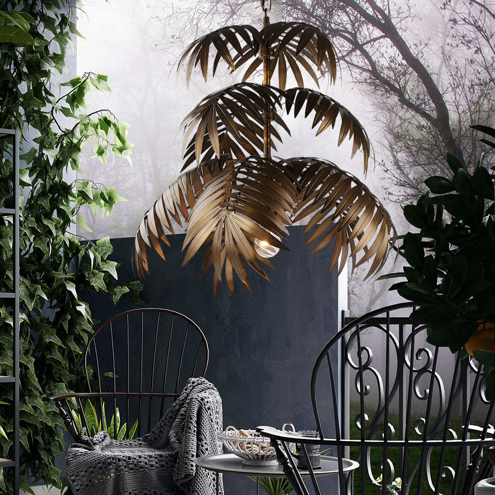 Restaurant outdoor chandelier