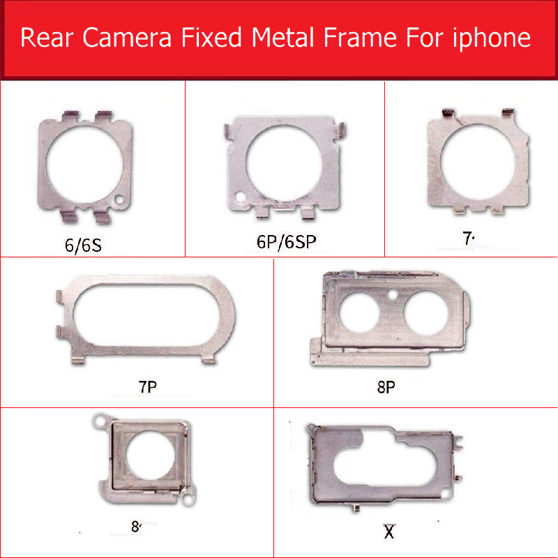 Rear Back Camera Metal Bracket Holder For Iphone X XS MAX 6 6s 7 8 Plus Main Camera Metal Frame Bracket Plate Replacement Parts