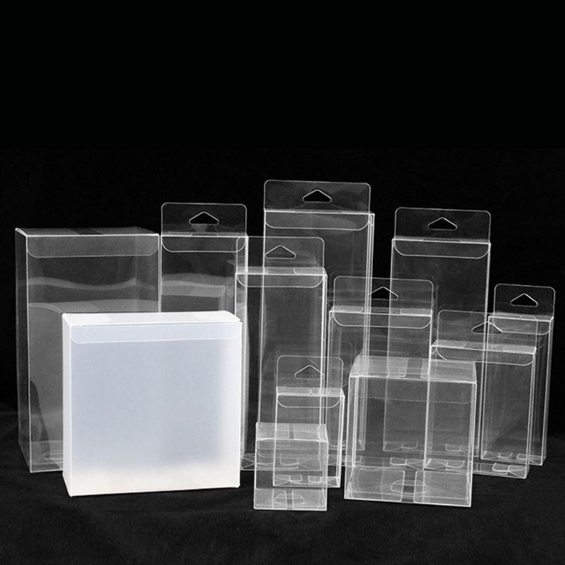 50 Pcs PVC Clear 1: 64 Model Car Exhibition Box Dustproof Hook Display Holder