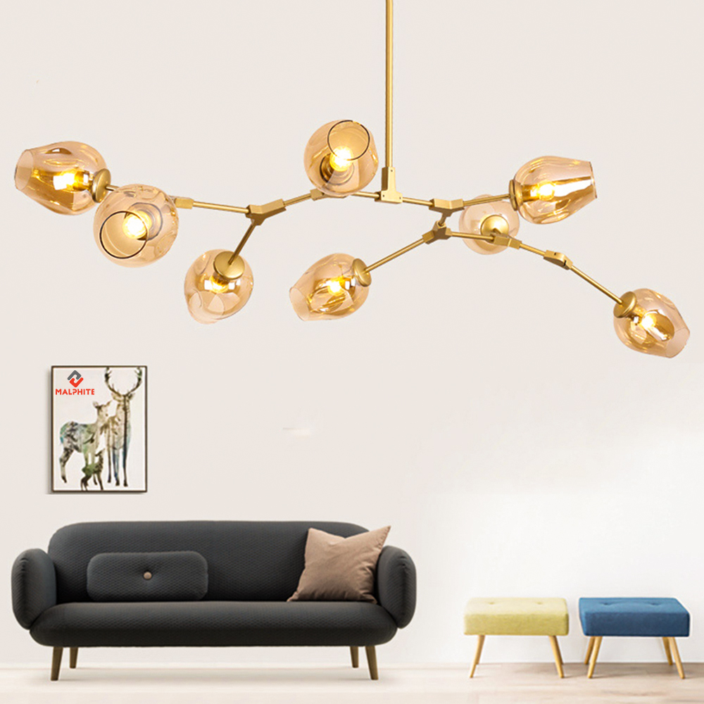 Nordic Glass LED Chandelier Lighting Modern Chandelier LOFT for Living Room Bedroom Hanging Lamp Ball Kitchen Luminaire Luster|Chandeliers| |  - title=
