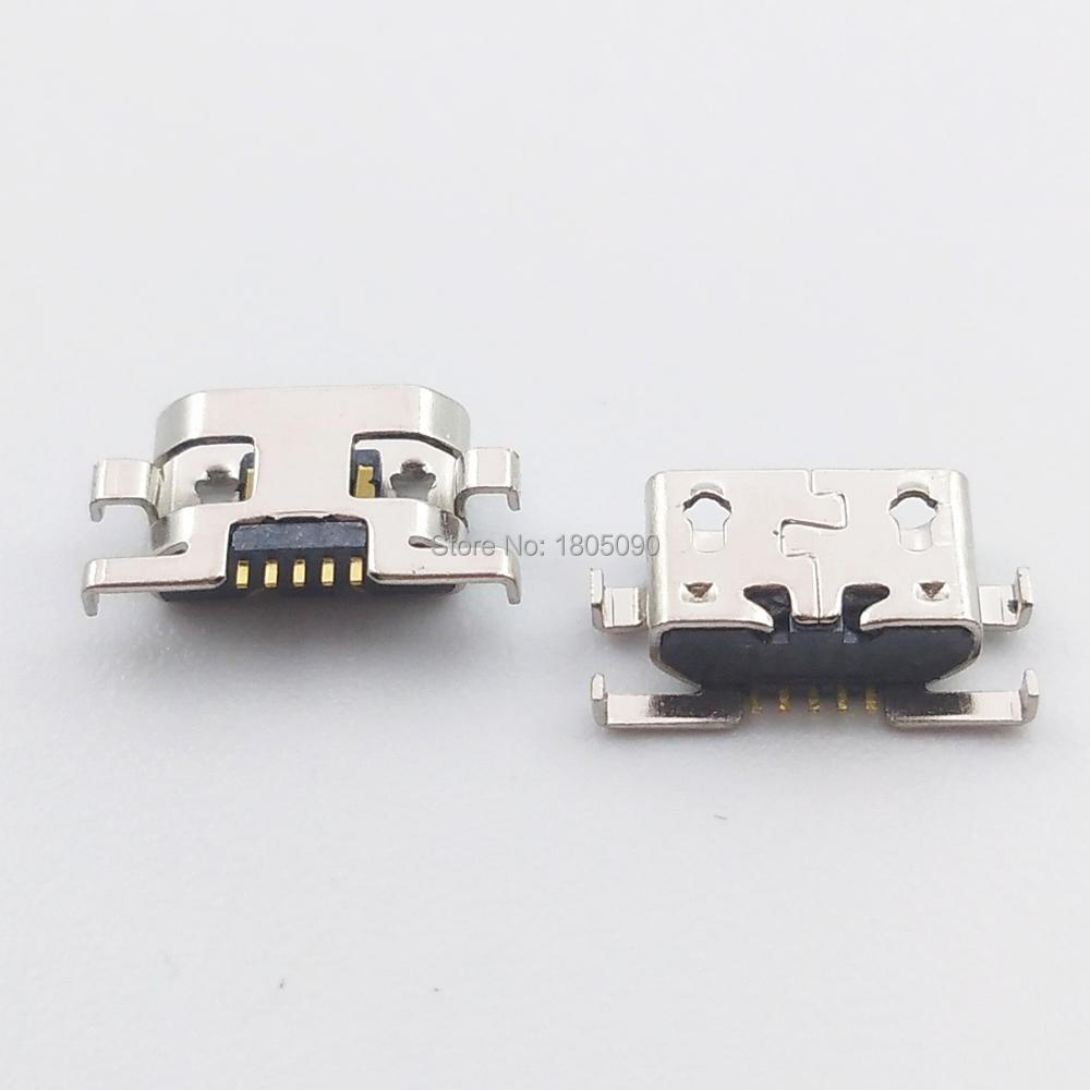 10pcs Micro USB Mini Jack 5pin Reverse Insertion Flat Without Curling Side Female Connector For Motorola G2 G+1 XT1063 XT1068