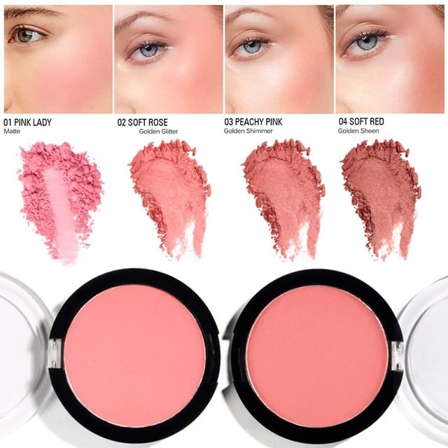 SACE LADY fard à joues visage poudre Rouge maquillage joue Blush poudre minéraux Palettes fard à joues naturel brosse Palette crème TSLM2