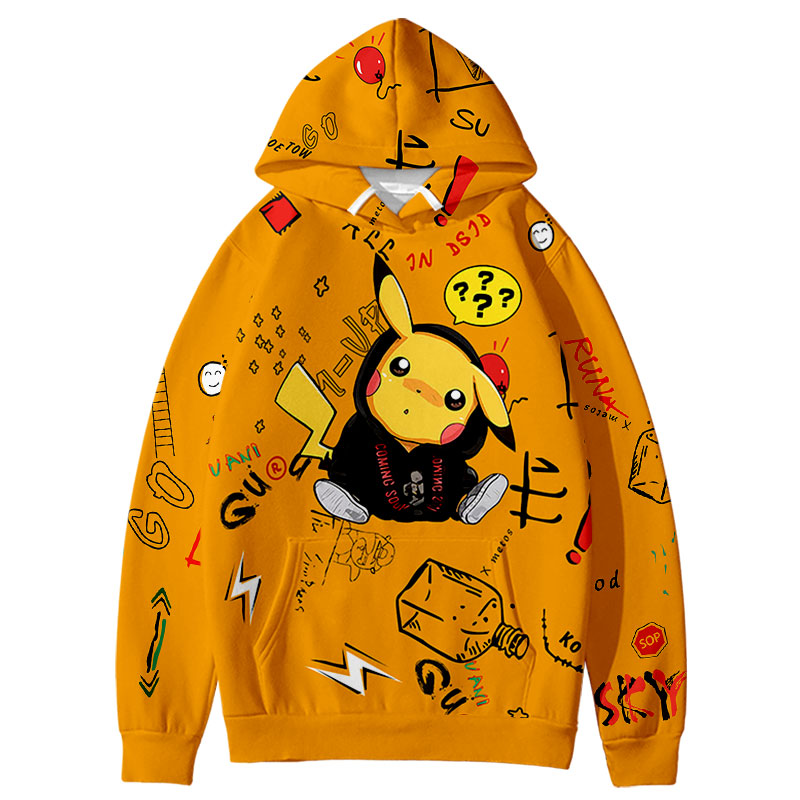 Hip Hop Harajuku Pikachu Cute Trendy 3D Hoodie Sweatshirt Cute 2020 Newest Fashion Hot Trend Hip Style Women/men/Kid Hoodies