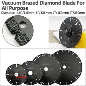 """Image 2 - להב יהלום מולחם ואקום 115 מ""""מ DIATOOL לכל המטרה עבור אבן פלדת ברזל יצוקה אלומיניום 4.5 """"הריסה שעם להב 22.23"""