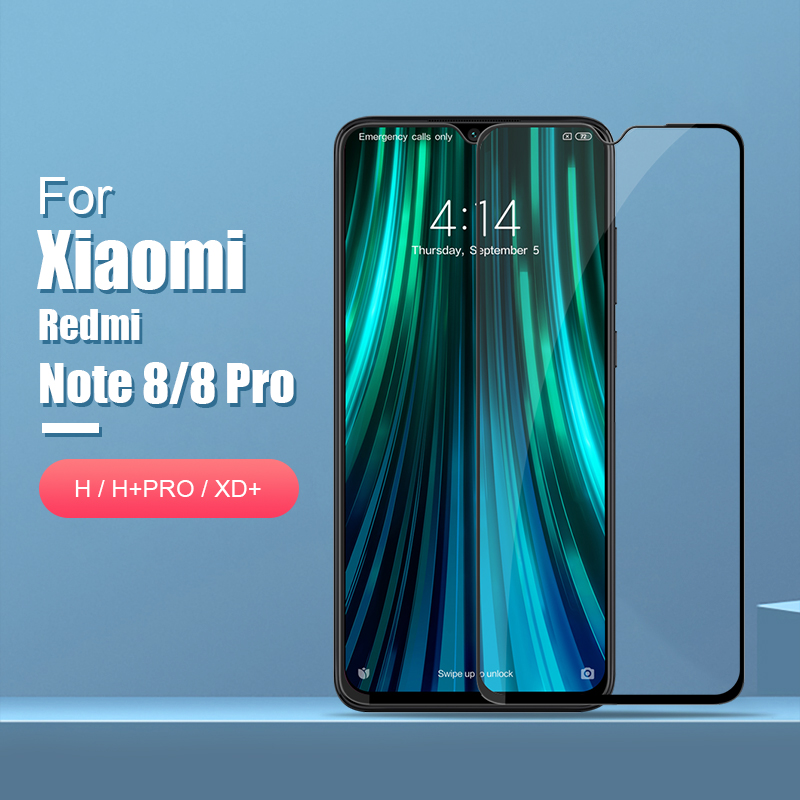 for xiaomi redmi note 8 pro Glass Screen Protector NILLKIN Amazing H/H+PRO/XD+ 9H redmi note 8 Tempered Glass Protector 6.3/6.53-in Phone Screen Protectors from Cellphones & Telecommunications on