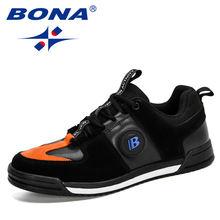 Bona 2020 новые дизайнерские Популярные Мода кроссовки Для мужчин