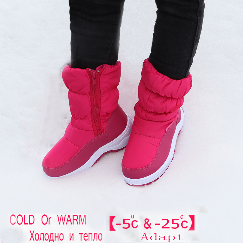 Image 5 - Cute Eagle Winter Girl's Nonslip Snow Boots Kids Mountaineering Skiing Warm Snowshoe School Outdoor Activities Eu Size 22 33-in Boots from Mother & Kids