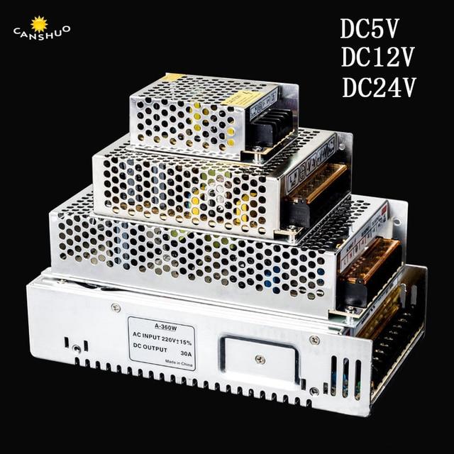 AC 110V 220V DC 5 V 12 V 24 V 2A 3A 5A 10A 15A 20A 30A anahtarı led adaptör sürücüsü güç kaynağı 5 V 12 V 24 V LED şerit ışık