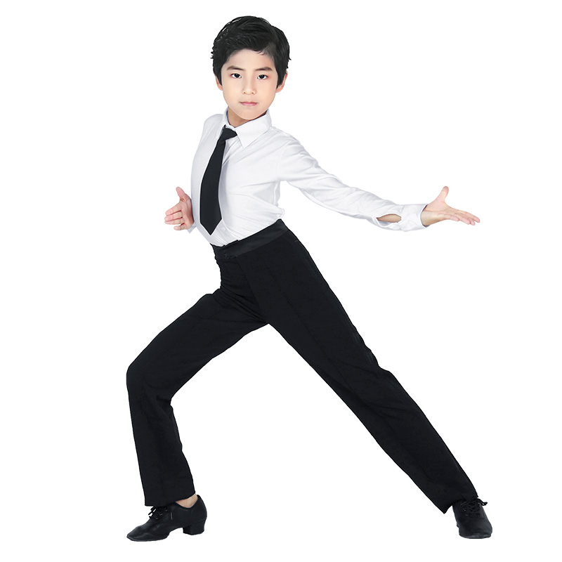 Image 4 - Professional Men Black Latin Dance Pants Boys Adult Satin Ballroom Dance Pants Salsa Tango Rumba Samba Cha Cha Latin Trouserspants anklespants convertiblepants latex -