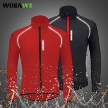 Cycling-Jacket Windbreaker Mountain-Bike WOSAWE Waterproof Bicycle Ultralight Reflective