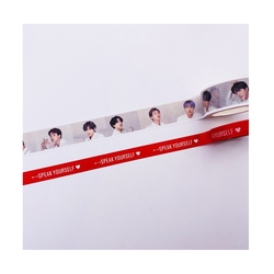Kpop Paper Tape Korean Idol Hand Account Diary Notebook Aesthetic School Student Stationery Decoration Supplies Washi