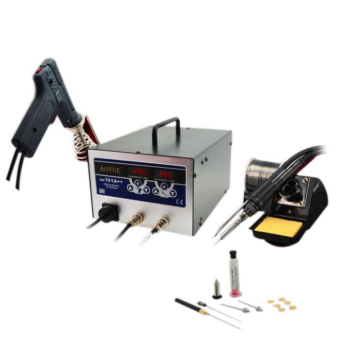 <font><b>AOYUE</b></font> <font><b>701A</b></font>++ BGA Soldering Station 3 in 1 Function 60W Solder Sucker + Smoker + 35W Solder Iron image