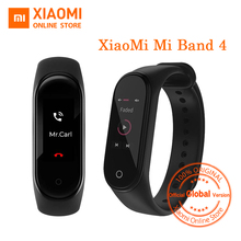 "Versión Global Xiaomi Mi Band 4 Smart Band 0,95 ""Pantalla colorida AMOLED Monitor de Fitness pulsera pulsómetro rastreador 135mAh"
