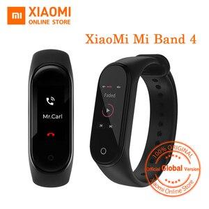 "Image 1 - 글로벌 버전 Xiaomi Mi Band 4 스마트 밴드 0.95 ""컬러 AMOLED 디스플레이 피트니스 트래커 팔찌 심박수 추적기 135mAh"
