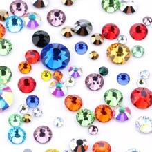 Hotfix Crystals Decoretion Stones Fabric Glass Rhinestones-1.9-3.2mm Flatback Sewing