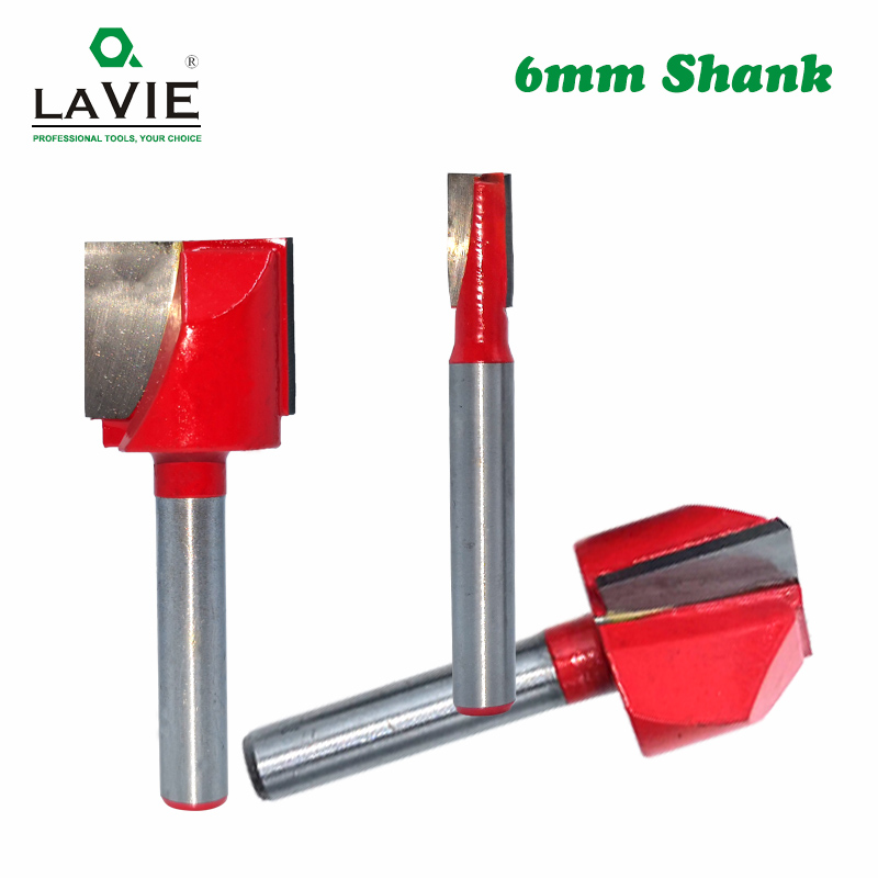 LAVIE 6mm Shank Wood Cleaning Bottom Bit Straight Router Bit Clean Milling Cutter Woodworking Bits Power Machine MC06030