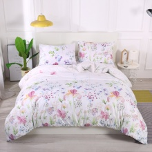 Floral Bedding Set Classic Modern Duvet Cover And Pillowcase Concise Style Bedding Set Textile Bed Set No Sheets