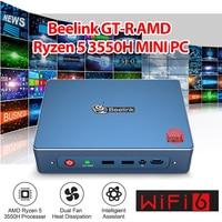 Beelink GTR Windows 10 MINI PC AMD Ryzen 5 3550H Vega 8 WIFI 6 Fingerprint Anmelden 4K Stimme interaktion Gaming MINI PC TV BOX