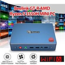 Мини-ПК Beelink GTR, Windows 10, AMD Ryzen 5, 3550H, Vega 8, Wi-Fi, 6 входов по отпечатку пальца, 4K, голосовое взаимодействие, игровой мини-ПК, ТВ-бокс