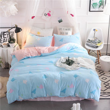 kid cartoon Fashion bedding sets bed linen Simple Style duvet cover flat sheet Bedding Set Full King Single Queen set