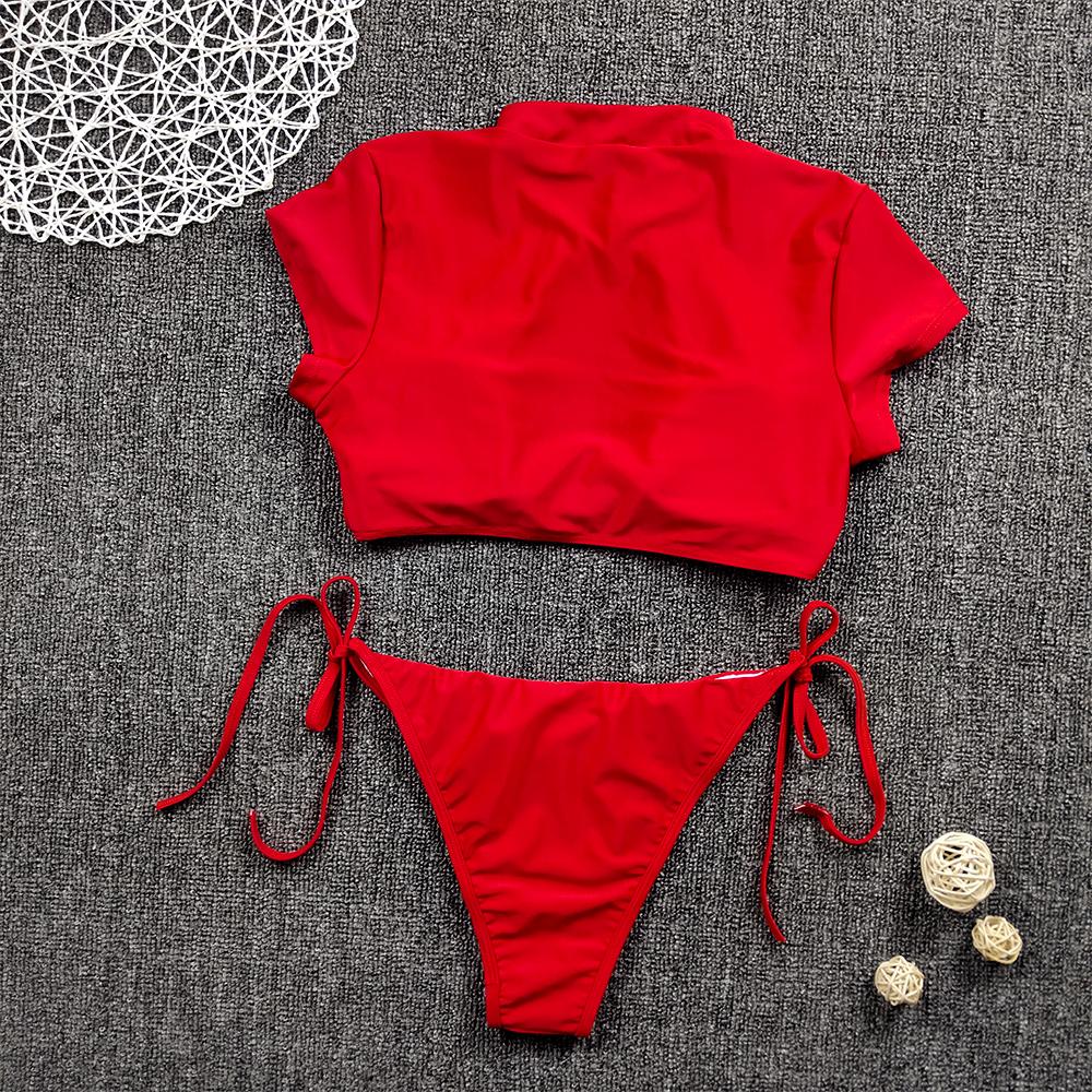 Женский комплект бикини с полосками зебры, пуш-ап, бюстгальтер с подкладкой, бандаж, купальник, высокая талия, женский купальник, стильный пл... 22