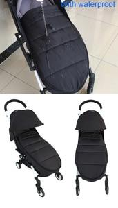 Image 2 - אוניברסלי תינוק עגלת אביזרי חורף גרבי שינה תיק Windproof חם Sleepsack תינוק Pushchair Footmuff עבור Babyzen yoyo
