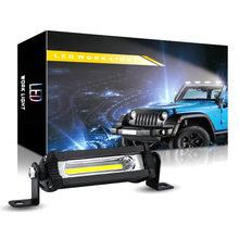 Ampoule de travail COB 48W 12V, 2 pièces, barre de faisceau 6000K 3000LM, phares de travail, projecteur voiture SUV hors route, conduite IP67