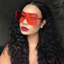 Leopard Big Flat Frame Vintage Sunglasses Women Luxury Brand
