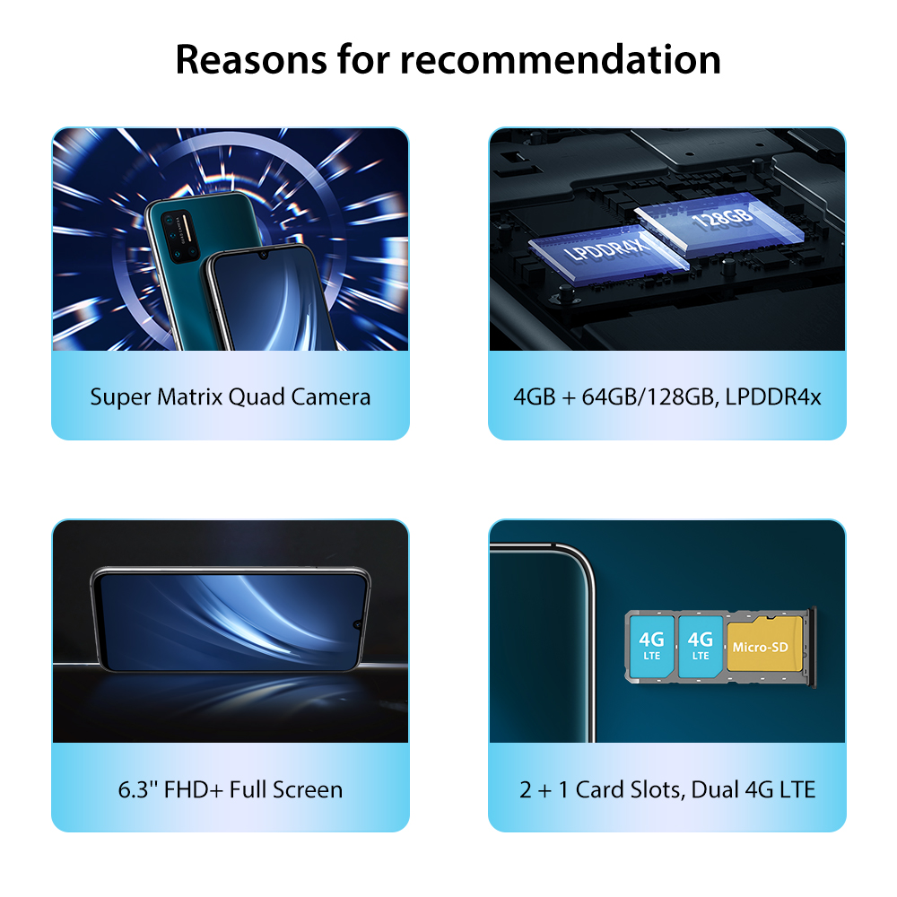 Clearance SaleUMIDIGI Helio P23 Mt6763t 128GB 4gbb LTE/GSM/WCDMA/CDMA 5g wi-Fi Octa Core Fingerprint Recognition/face Recognition