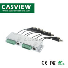 HD 8CH Ahd Cvi Tvi CVBS Analog Video Transmitter dengan Kabel BNC Terminal Perumahan Aluminium 8 Channel Pasif Video Balun UTP Cat(China)
