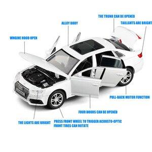 132 Audi A4 модель литая под давлением спортивная модель автомобиля оттягивает звук и свет игрушки Детский подарок коллекция игрушек v247бесплат...